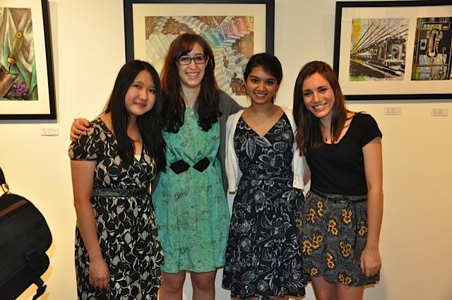 Winners Chloe Chan, Lily BLum, Viraj Khetani, Carly Pancer