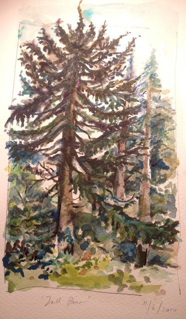 Orna Greenberg's watercolor created at the workshop