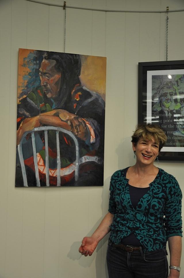 """Orna Greenberg and her oil  """"Tibetan Man"""""""