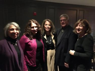 Donna Davis, Amy McGovern, Judy Kramer, Andrew Permison and Kathi Hecht at the Township Volunteer Appreciation dinner.