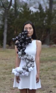 "Darice Lee-Arts Advisory Senior Scholarship Winner 2017- ""Cloud Impurity""-Wearable Art, Paper Origami"