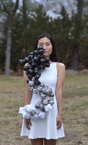 "Darice Lee-Arts Advisory Senior Scholarship Winner 2017- ""Cloud Impurity""-Wearable Art, Paper Origami"