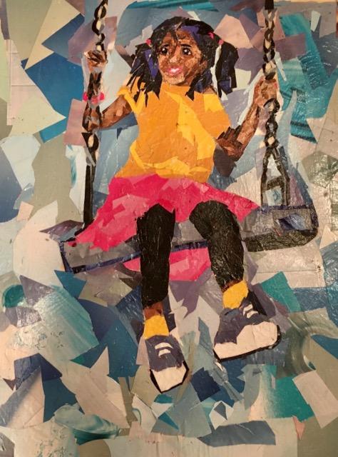 Sindu Shanmugadas- Art Advisory Junior Award of Merit 2017--Girl on a Swing- -collage