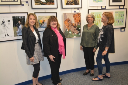 Art Advisory Members Judy Kramer, chair Laraine Barach, Donna Davis and Kathi Hecht