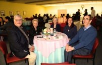 AAC Member Andrew Permison, AAC supporter Cheryl Chapman, Elaine Becker, former Mayor and AAC Member, Wendy Weill, President Historical Society, and James Weill, Architecht