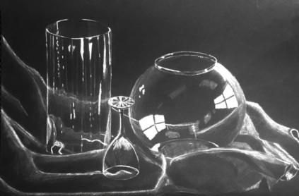 Rachel Thornton - White Charcoal Still Life