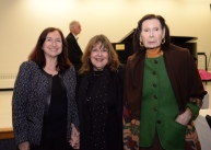 Jeanne Weill Historical Society President, Laraine Barach AAC Chair and Vera Colitti, Arts Patron