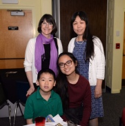 Kathleen Harte (MHS AP Art) with Maggie Ma and family