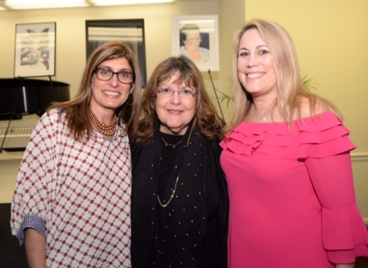 Laraine Barach with Alyssa Russo and Lynn Farscht of the Millburn Film Fest