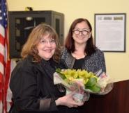 Laraine Barach with Jeanne Weill, Historical Society