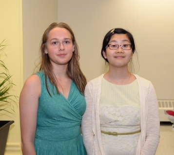 Rachel Thornton and Jenny Yeung, Scholarship Winners 2018