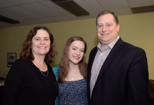 Sarah Rosenthal and parents