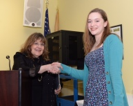 Sarah Rosenthal receives her award