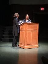 Kathleen Harte-Gilsenan receiving the Krueger-Rhodes Award