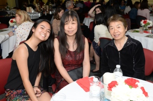 Maggie Ma with her mother and grandmother