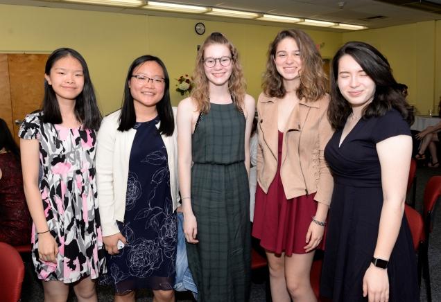 Betty Zheng, Amy Tan, Caroline Vertergard, Kate Lama and Alex DeRosa