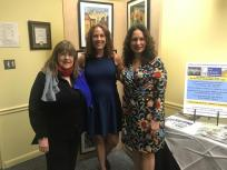 AAC Chair Laraine Brennan Barach, Mayor Diane Eglow and AAC Vice President Amy McGovern
