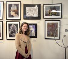 Kate Lama with artwork