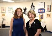 Mayor Diane Eglow and AAC Member Michelle San Fillippo