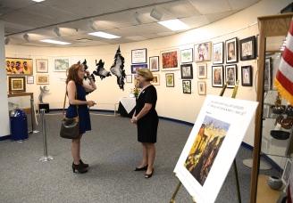 Mayor Diane Eglow with Michelle San Fillippo